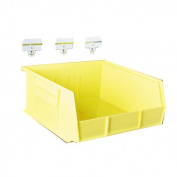 Triton Products BK-596.9cm . L x 27.9cm . W x 12.7cm . H Yellow Polypropylene Hanging Bin and BinClip Kits 6 CT