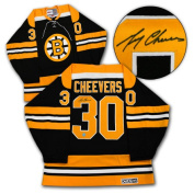 AJ Sports World CHEG102000 GERRY CHEEVERS Boston Bruins SIGNED Retro Stanley Cup Jersey