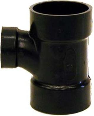 Genova Products 10.2cm . X 10.2cm . X 7.6cm . ABS-DWV Reducing Sanitary Tees 81143