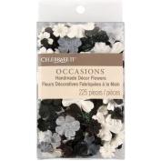 Prima Flowers CIFC71-5212 Celebrate It Handmade Paper Flower Confetti 225-Pkg-Black White and Grey Mix
