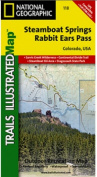 National Geographic TI00000118 Map Of Steamboat Springs-Rabbit Ears Pass - Colorado