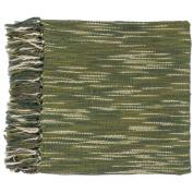 Surya TEE1006-5578 140cm x 200cm Teegan Throw - Green-Ivory