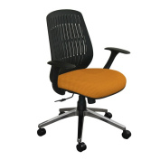 Marvel WPCOPFA-F6551 Wave Chair with Orange Fabric and Aluminum Base