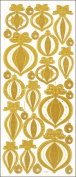 Hot Off The Press 3DDAZ-2090 3D Dazzles Stickers-Christmas Ornaments-Gold