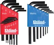 Eklind Tool 10518 18-Piece Set Standard and Metric Hex Keys