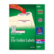 Avery Consumer Products AVE5066 Permanent Filing Labels- .33 Cut- Red