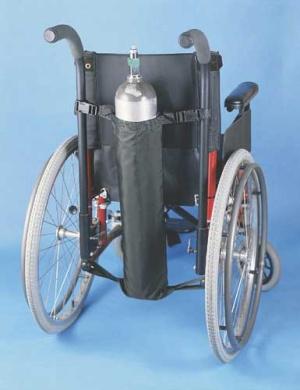 Wheelchair Oxygen Bag Black 27 L x 5 Diameter - 1969