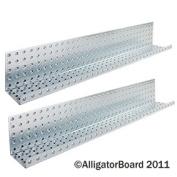 Alligator Board ALGSHELF5x 121.1l 12.7cm . L x 81.3cm . W Metal Pegboard Shelves - Pack of 2