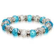 Alexander Kalifano BLUE-BGG-19 Gorgeous Glass Bracelet - Multi-Coloured