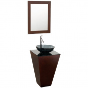 Wyhdham Collection WCSCS004ESSMB015 Esprit Espresso with Smoke Glass Top with Smoke Glass Sink