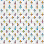 WallCandy Arts Removable Wallpaper, French Bull Robots