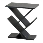 Adesso WK4614 Zig-Zag Accent Table - Black