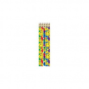 Musgrave Pencil Co Inc MUS1467D Happy Face Asst 12Pk Motivational