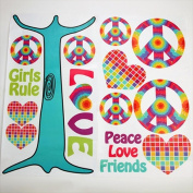 One Grace Place 10-34045 Terrific Tie Dye Wall Decals