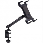 Arkon TAB804 Heavy-Duty Aluminum C-Clamp Universal Tablet Mount - 10 in.