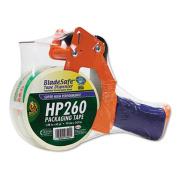"Duck 1078566 Bladesafe Antimicrobial Tape Gun w/Tape- 3"" Core- Metal/Plastic- Orange"
