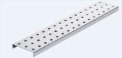 Alligator Board ALGSTRP3x 60.6l 7.6cm . L x 40.6cm . W Metal Pegboard Strip with Flange - Pack of 2