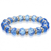 Alexander Kalifano BLUE-BGG-22 Gorgeous Glass Bracelets - Sapphire