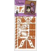 Hot Off The Press DAZ-1579 Dazzles Stickers -Corner Copper