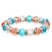 Alexander Kalifano BLUE-BGG-16 Gorgeous Glass Bracelet - Multi-Coloured