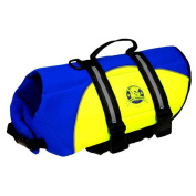 Paws Aboard PA-BY1300 Neoprene Doggy Life Jacket Small Blue- Yellow 15 - 20 lbs.