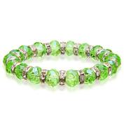 Alexander Kalifano BLUE-BGG-10 Gorgeous Glass Bracelets - Peridot