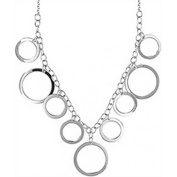 Doma Jewellery DJS02641 Sterling Silver (Rhodium Plated) Necklace - Circles