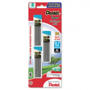 Pentel C27BPHB3K6 Super Hi-Polymer Lead Refills 0.7mm HB Black 90 Leads-Pack
