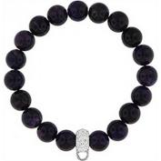 Doma Jewellery DJS01442 Bracelet with Crystal Charm Enhancer - 12mm Amethyst Beads
