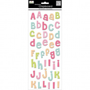 Me& My Big Ideas 367198 Self-Adhesive Designer Chipboard-Jewel Alphabet