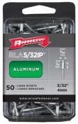 Arrow Fastener Co. RLA.16IP 50 Count .40.6cm . Long Aluminium Rivets