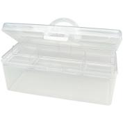 Darice 1157-44 Clear Plastic Craft Tote 34cm . x 14cm . x 14cm .