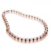 Alexander Kalifano WHITE-NGG-N20 Gorgeous Glass Necklaces - Pink Topaz