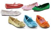 Ellie Shoes E013BALLETGR-S Red Ballet Slipper with Glitter Child Size Small