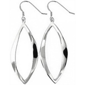 Doma Jewellery DJS02455 Sterling Silver (Rhodium Plated) Dangle and Hook Earring