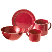 Gsi 148314 Stainless Steel Rim Cup 350ml Red