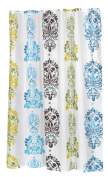 Carnation Home Fashions 100-Percent Polyester Fabric 180cm by 210cm Shower Curtain, X-Long, Olivia, Multi Colour Print