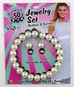 Costumes For All Occasions FM61808 Pearl Necklace and Earrings