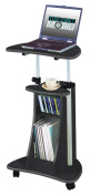 Techni Mobili RTA-B002-GPH06 Rolling Laptop Cart with Storage - Graphite