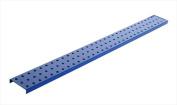 Alligator Board ALGSTRP3x32PTD-BLU Blue Powder Coated Metal Pegboard Strips with Flange - Pack of 2