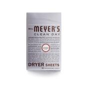 Mrs. Meyers 1211317 Dryer Sheets - Lavender - 80 Sheets