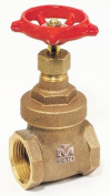 B And K Industries 2.5cm . Low Lead Gate Valve 100-205NL