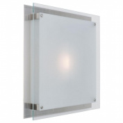 Access Lighting 50031-BS-FST Vision 1 Light Wall Fixture or Flush-Mount - Brushed Steel