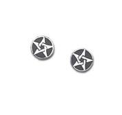 Alchemy Gothic E168 Pentanoir Earrings - Pair