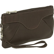 Piel Leather 2937-CHC Rainbow Wristlet - Chocolate