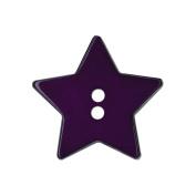 Blumenthal Lansing 93603 Slimline Buttons Series Funtastics -Purple Star 2-Hole 1-.33cm . 2-Pkg