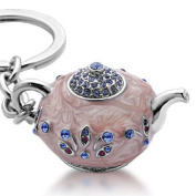 Alexander Kalifano SKC-043 Teapot Keychain Made with. Crystals