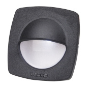 Perko LED Utility Light with Snap On Front Cover - Black - 1074DP2BLK