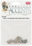 Cousin Corporation SR25798 Precious Accents Silver Plated Metal Beads & Findings