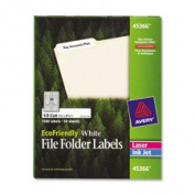 Avery Consumer Products AVE45366 File Folder Labels- .170cm .x3-.110cm .- White